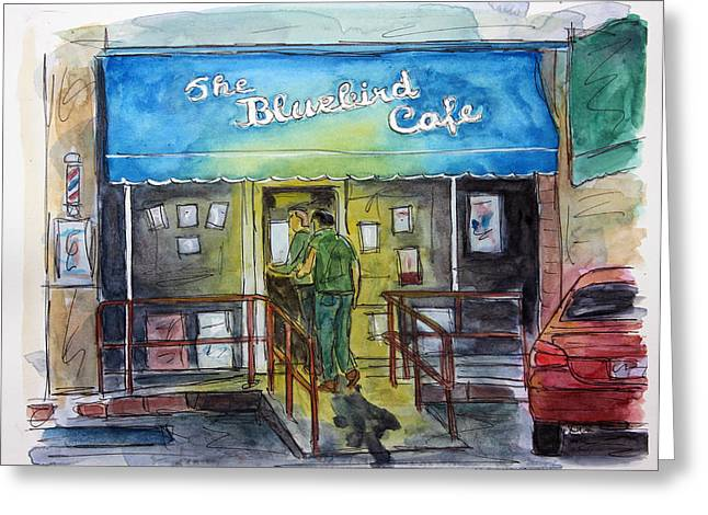 Tim Ross Greeting Cards - Another Bluebird Night Greeting Card by Tim Ross