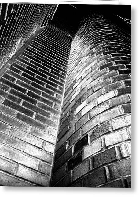 Another Brick In The Wall Greeting Card by Barbara Drake