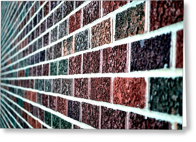 Technical Greeting Cards - Another Brick In The Wall Greeting Card by Deena Stoddard