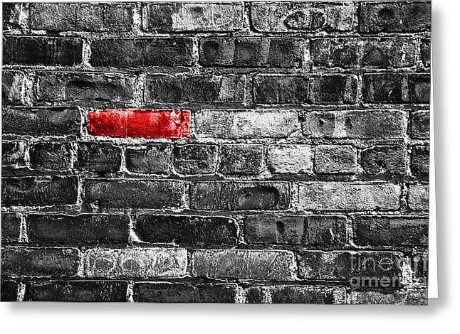 Another Brick In The Wall Greeting Card by Delphimages Photo Creations