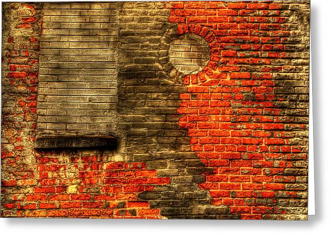 Another Brick In The Wall Greeting Card by Thomas Young