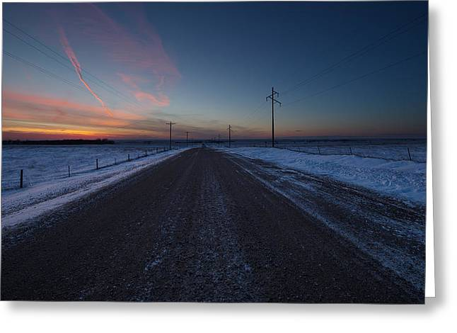 Canon 6d Greeting Cards - another Cold Road to Nowhere Greeting Card by Aaron J Groen