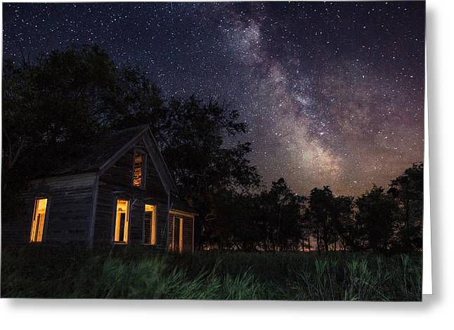 Abandoned Houses Photographs Greeting Cards - Another Dark Place  Greeting Card by Aaron J Groen