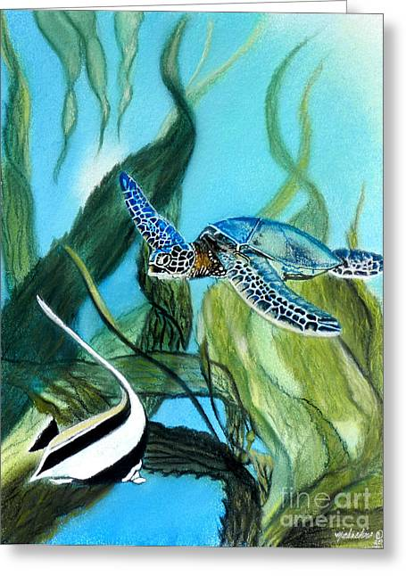Tropical Oceans Pastels Greeting Cards - Another Day in Paradise Greeting Card by Michaeline McDonald