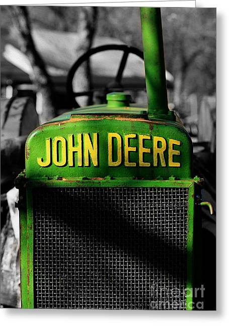Farmers Field Greeting Cards - Another Deere Greeting Card by Cheryl Young