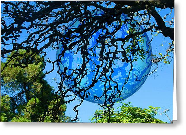 Hallucination Greeting Cards - Another Earth Greeting Card by Carlos Vieira