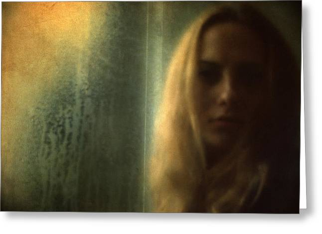 Haze Greeting Cards - Another face in a window II Greeting Card by Taylan Soyturk