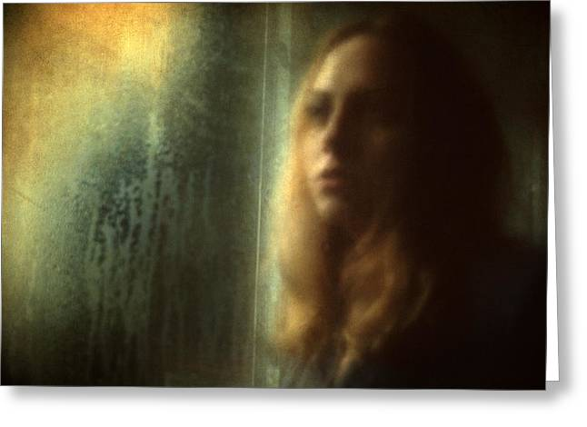 Romanticism Greeting Cards - Another face in a window Greeting Card by Taylan Soyturk