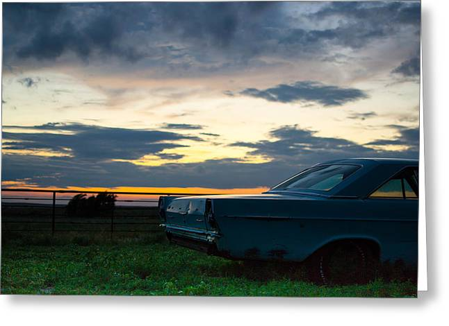 Rusted Cars Greeting Cards - Another Ford Sunset Greeting Card by Nathan Hillis