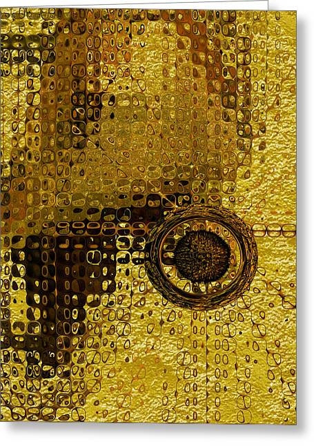 Gold Ring Greeting Cards - Another Galaxy  Greeting Card by Jack Zulli