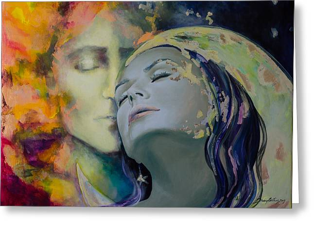 Live Paintings Greeting Cards - Another Kind Of Rhapsody Greeting Card by Dorina  Costras