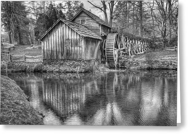 Grist Mill Greeting Cards - Another Look at the Mabry Mill Greeting Card by Gregory Ballos