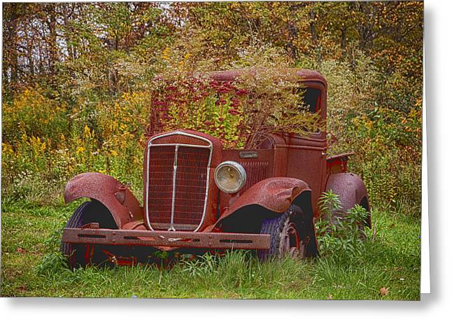 Old Trucks Greeting Cards - Another Look Greeting Card by Ross Powell