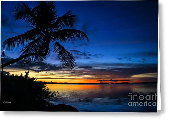 Isla Morada Greeting Cards - Another Night in Paradise Greeting Card by Rene Triay Photography
