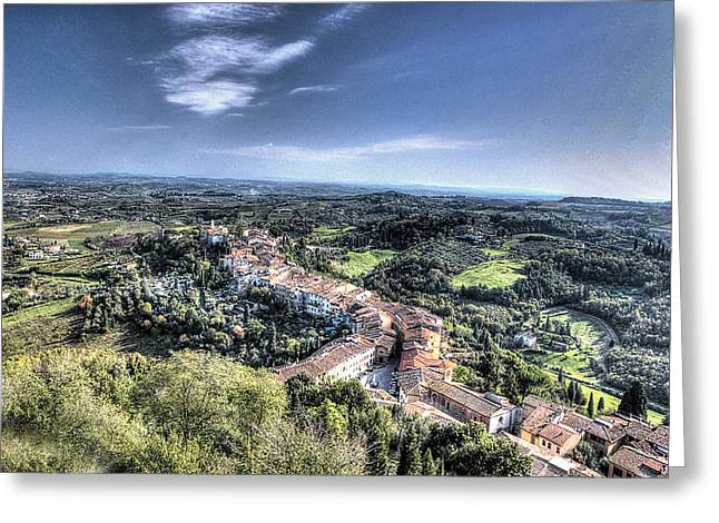 Vale Greeting Cards - Another San Miniato View Greeting Card by William Fields