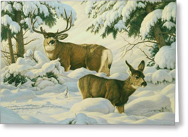 Mules Greeting Cards - Another Season Greeting Card by Paul Krapf