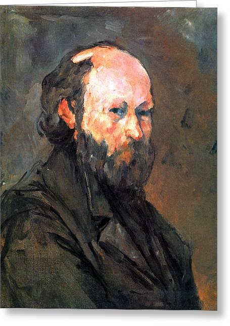 John Peter Greeting Cards - Another Self Portrait by Cezanne Greeting Card by John Peter