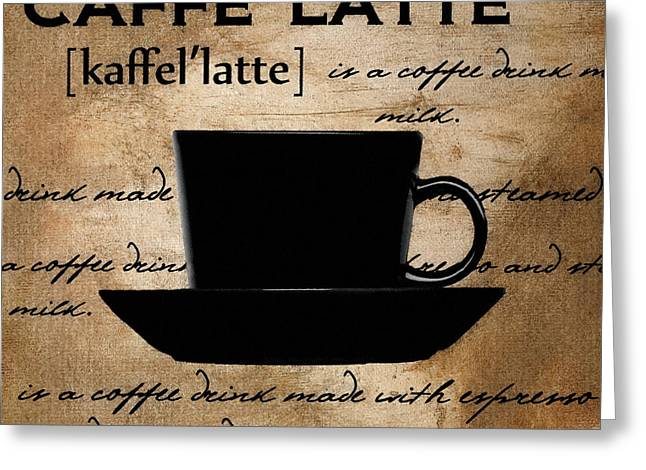 Caffe Latte Greeting Cards - Another Sip Greeting Card by Lourry Legarde