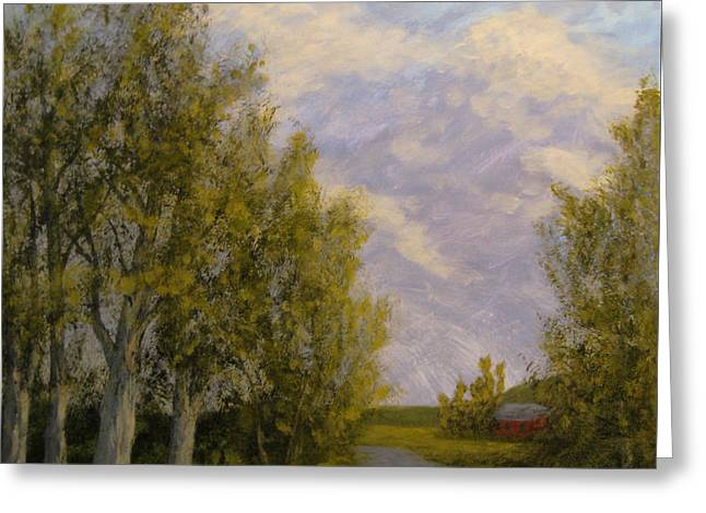 Summer Storm Paintings Greeting Cards - Another Storm Rolls By... Greeting Card by Matthew Hannum