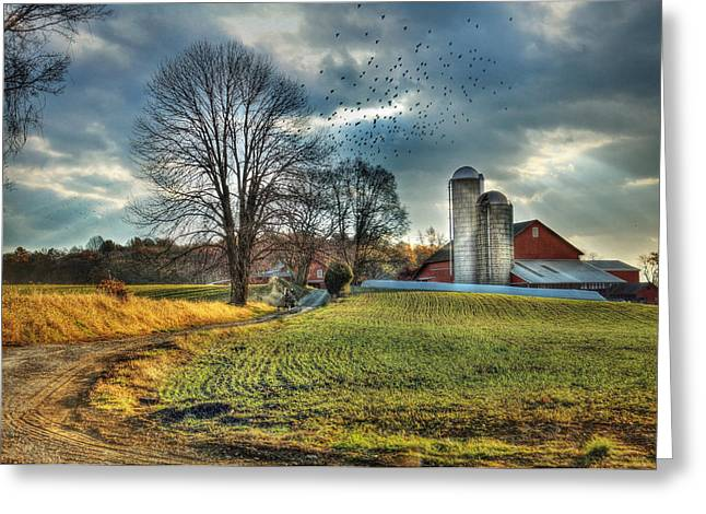 Barn Digital Greeting Cards - Another Sunday Morning Greeting Card by Lori Deiter