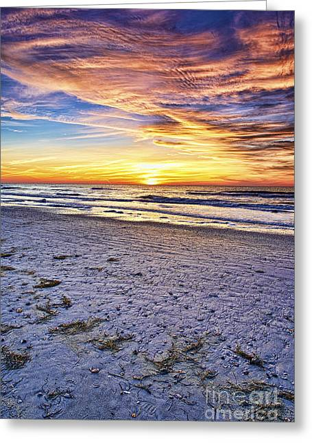 Sunset Posters Pyrography Greeting Cards - Another Sunset Greeting Card by Eyzen M Kim