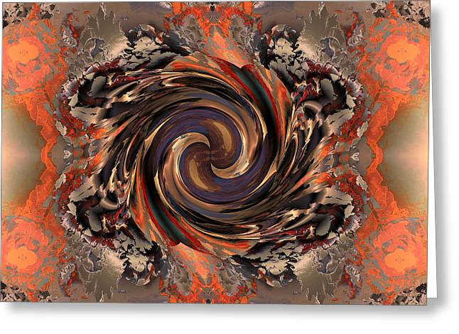 Generative Abstract Greeting Cards - Another Swirl Greeting Card by Claude McCoy