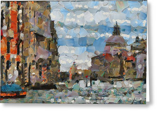 Gondolier Greeting Cards - Another Venice 1 Greeting Card by Yury Malkov