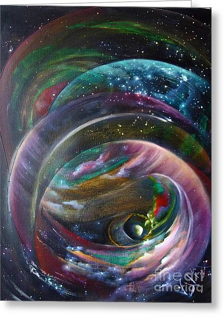 Macrocosm Greeting Cards - Another World13 Greeting Card by Valia US