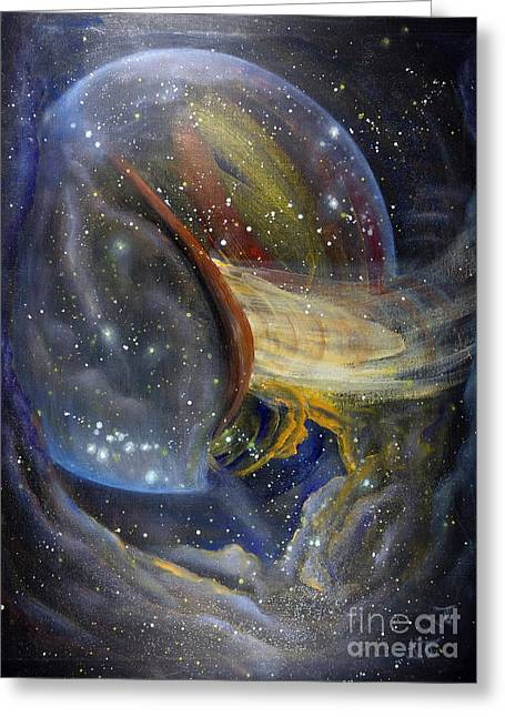 Macrocosm Greeting Cards - Another World2 Greeting Card by Valia US