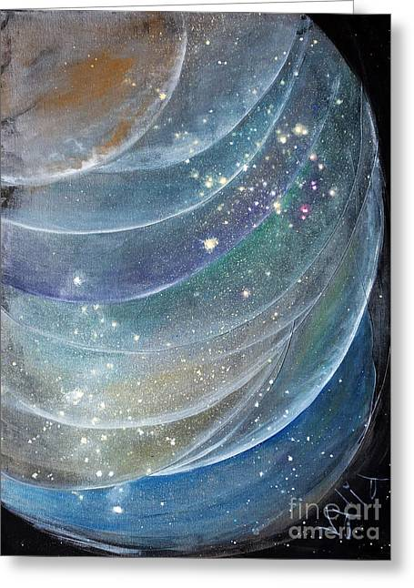 Macrocosm Greeting Cards - Another World6 Greeting Card by Valia US