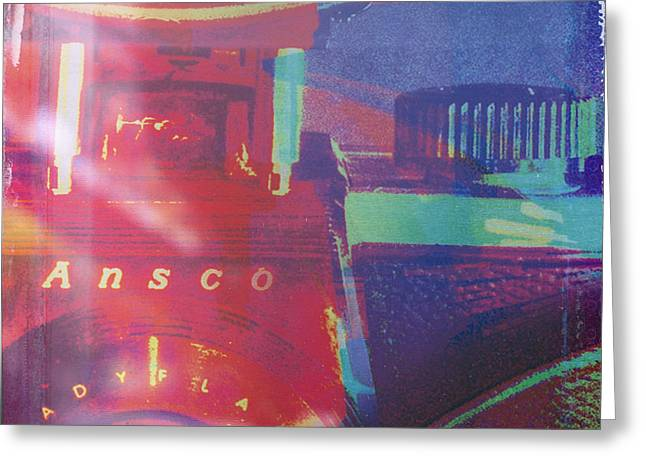 Colorful Photos Digital Art Greeting Cards - Ansco Camera Art Greeting Card by Susan Stone