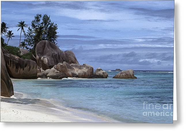 Geology Greeting Cards - Anse Source dArgent Greeting Card by Liz Leyden