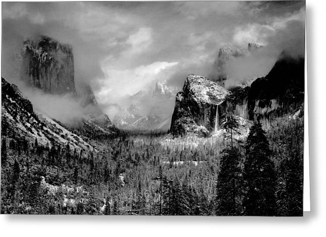 Nature Phots Greeting Cards - Ansel Adams Black and White Photo Greeting Card by Nomad Art And  Design