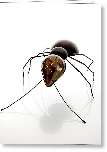 Animal Sculptures Greeting Cards - Ant Greeting Card by Lawrie Simonson