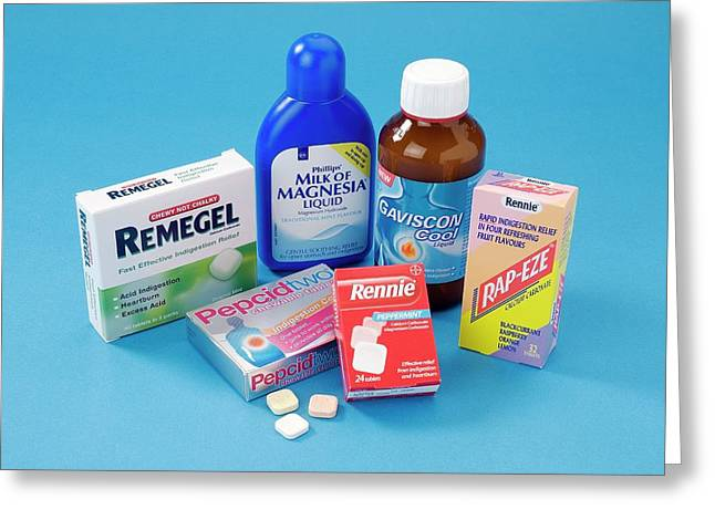 Antacid Medicines Greeting Card by Trevor Clifford Photography
