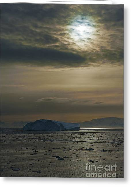 Bergy-bit Greeting Cards - Antarctic Colors... Greeting Card by Nina Stavlund