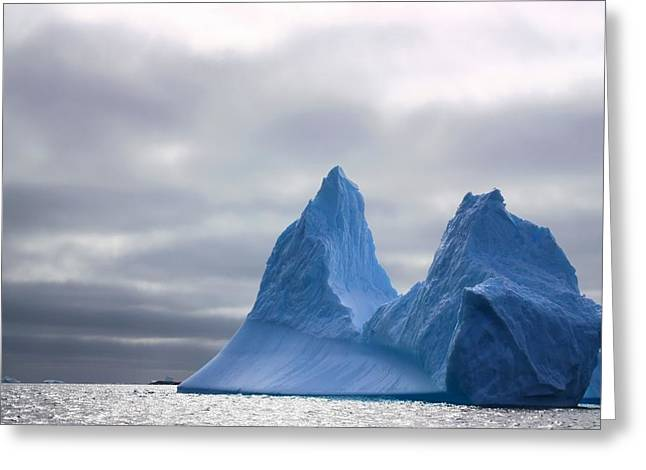 Iceberg Greeting Cards - Antarctic Iceberg 2 Greeting Card by FireFlux Studios