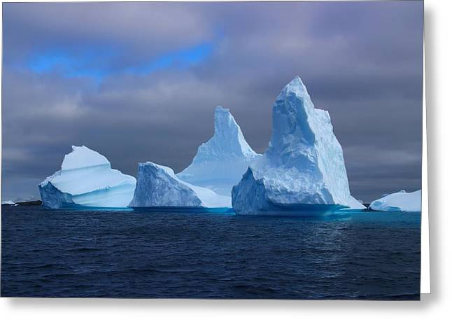 Iceberg Greeting Cards - Antarctic Iceberg 3 Greeting Card by FireFlux Studios
