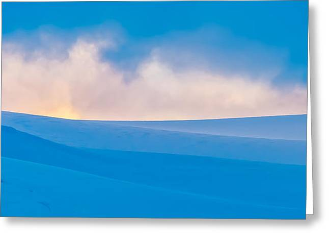 Backlit Greeting Cards - Antarctic Mist Greeting Card by Duane Miller
