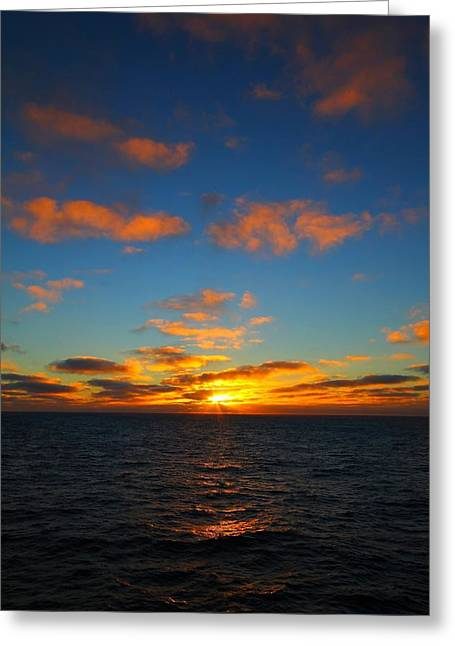 Verticle Greeting Cards - Antarctic Sunrise Greeting Card by FireFlux Studios