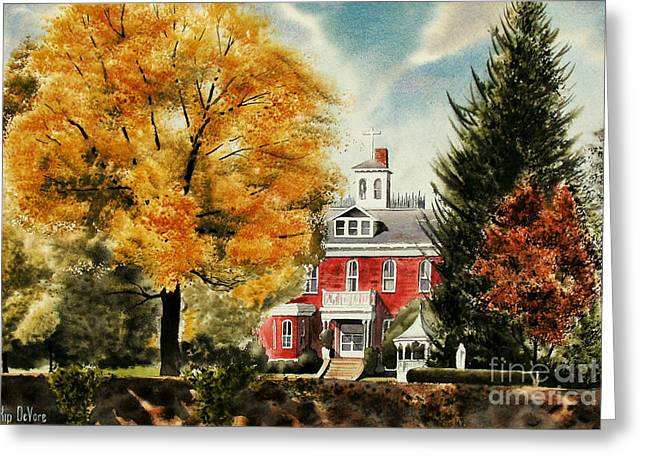 Autumn Scenes Greeting Cards - Antebellum Autumn II Greeting Card by Kip DeVore