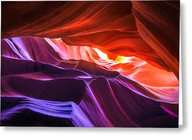 Recently Sold -  - Sand Pattern Greeting Cards - Antelope Canyon 16 Greeting Card by Ingrid Smith-Johnsen