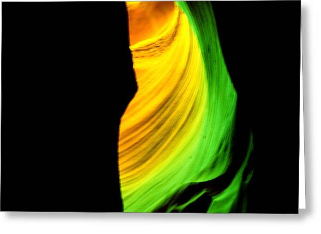 Antelope Canyon Abstract Greeting Card by Aidan Moran