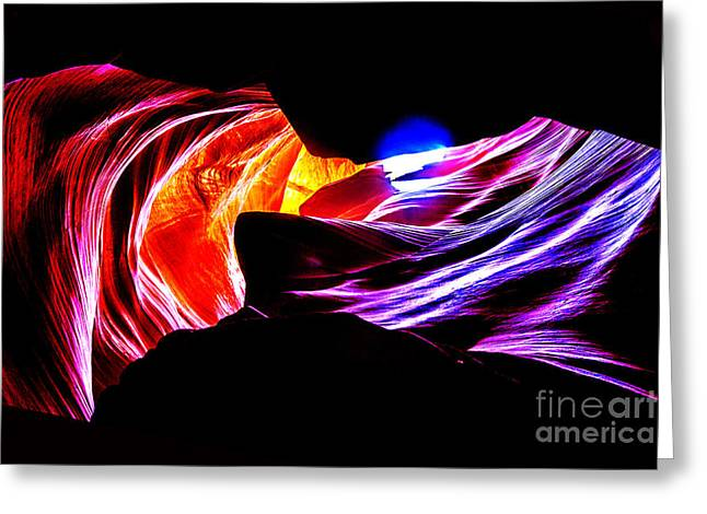 Nature Photographs Greeting Cards - Antelope Canyon Colours Greeting Card by Az Jackson