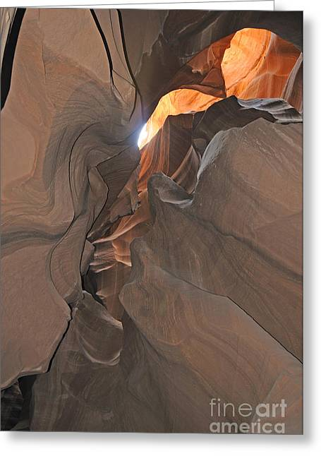 Biotope Greeting Cards - Antelope Canyon Greeting Card by Brenda Kean