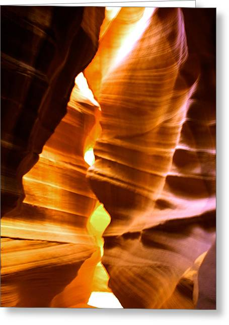 Antelope Canyon Page Arizona Greeting Card by Aidan Moran
