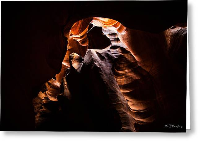Antelope Canyon Light Greeting Card by Bill Cantey