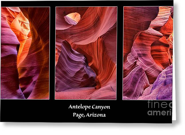 Sand Pattern Greeting Cards - Antelope Canyon Greeting Card by Priscilla Burgers