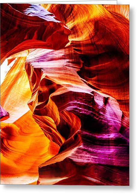Nature Photos Photographs Greeting Cards - Antelope Canyon Tour Greeting Card by Az Jackson