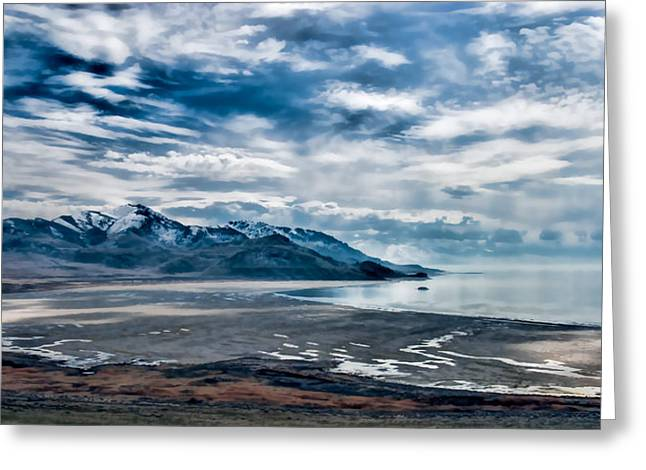 Recently Sold -  - Surreal Landscape Greeting Cards - Antelope Island Great Salt Lake Greeting Card by Tim Dahl